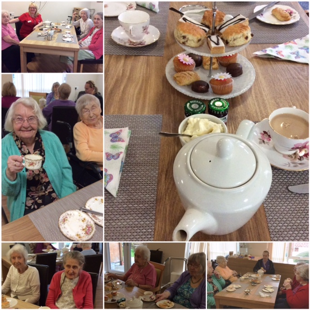 Tea Party with guests from Aaron Crest Care Home